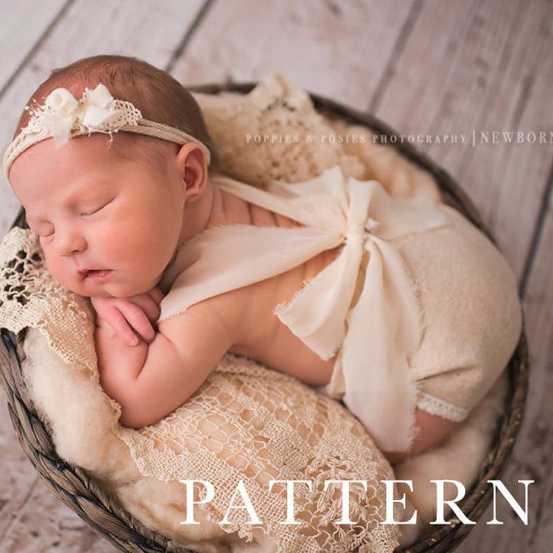 Neugeborenen fotografie requisiten neueste baby produkt studio fotografie zubehör spitzespielanzug zurück krawatte mädchen outfit baby geschenk
