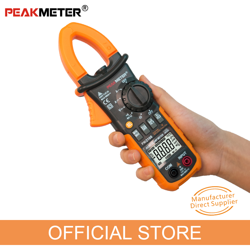 Tools : Current Clamp Meter PEAKMETER PM2108  MS2108A  MASTECH pliers ammeter Capacitance Tester AC DC amperimetric clamp multimeter