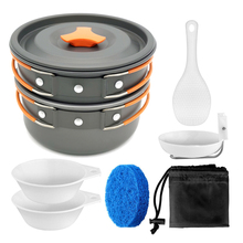 VILEAD Portable Bushcraft Camping Cookware Pot Pan Aluminum Alloy Outdoor Tableware Spoon Cooking tool for Hiking Picnic Travel недорого