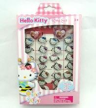 2 box 60 pcs hello kitty children cartoon round girls rings wholesale free shipping - Hello Kitty Wedding Ring
