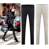 2018 Femme Pants Down Cotton Women Winter Trousers Black White Female warm Pencil Pants Plus Size With Velvet Pantalon L