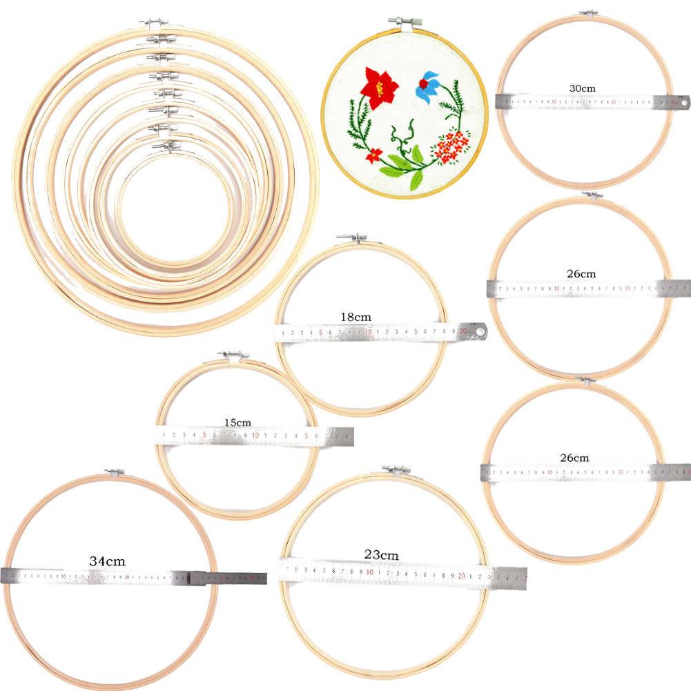 13-34 cm Gỗ Khung Hoop Vòng Tròn Thêu Vòng Máy Tre Cho Cross Stitch Tay Gia Dụng TỰ LÀM May Thủ Công needwork Công Cụ