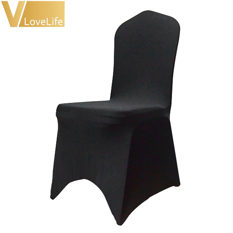100pcs Stretch Elastic Universal Lycra Chair Covers White