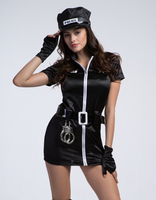 Halloween Costumes For Women Police Cosplay Costume Fancy Dress Sex Cop Uniform Sexy Policewomen Costume Carnival