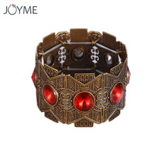 Brand Creative Bohemian Stretch Line Cuff Bracelet For Women Turkey Vintage Branch Flower Bangles Big Crystal Bronze Jewelry
