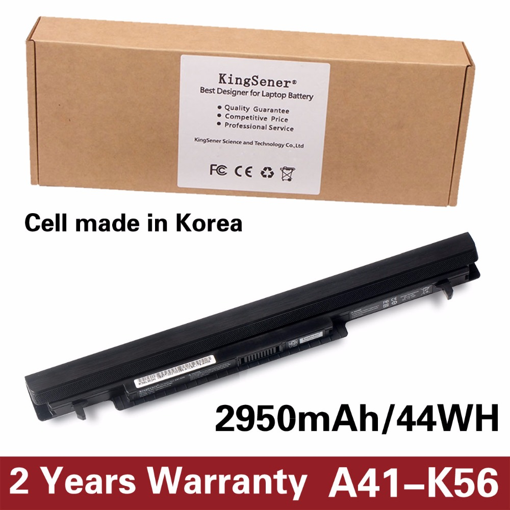 Korea Cell KingSener New A41-K56 Battery for ASUS K46 K46C K46CA K46CM K56 K56CA K56CM S46C S56C A32-K56 A42-K56 15V 2950mAh new lepin 15002 2133pcs cafe corner model building kits blocks kid diy educational toy children day gift brinquedos 10182
