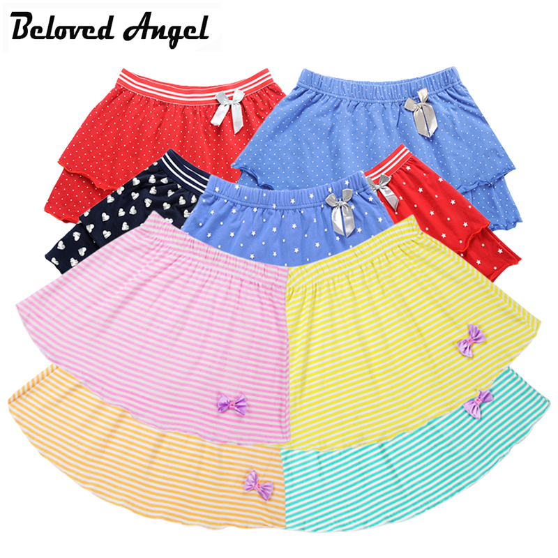 Girls Skirts Summer Style Children Kids Clothes Casual Toddler Girl Bow Ballet D
