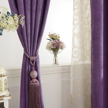 2017 New Curtains For Dining Living Bedroom Room Simple custom color chenille insulation drapes fabric shading