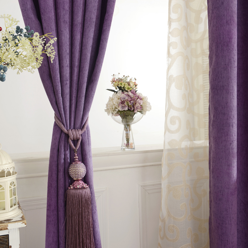 nuevas cortinas para el dormitorio sala de estar comedor simple chenille color de sombreado
