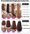 """100% cabelo humano somente pouco única pequena amostra pedaço de cabelo 16-28 """"22 cores"""