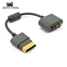 OPTICAL RCA ADAPTADOR de ÁUDIO OURO CABO de CHUMBO PARA XBOX 360 TODAS AS VERSÕES do Adaptador HDMI Cabo AV para Microsoft XBOX 360(China)
