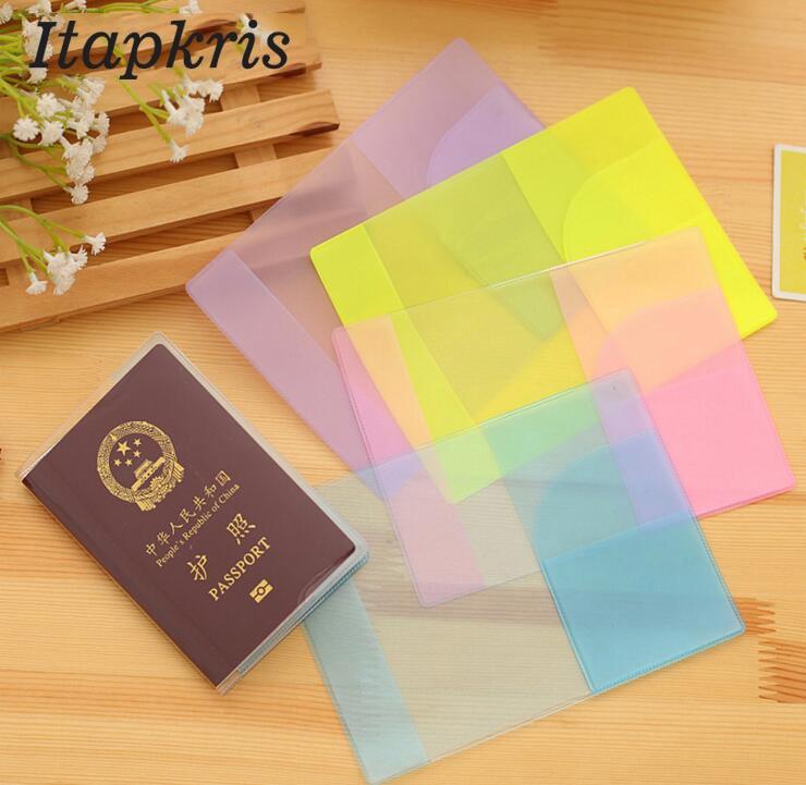 Buy One Get One Free Waterproof Transparent Passport Cover Travel Organizer Ticket Document Pocket Russia Passport Holder Women carmina campus