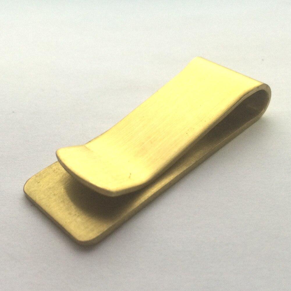 selezione migliore 632a6 50a74 US $3.36 52% di SCONTO|Spedizione Gratuita Supreme Ottone metallo  portafoglio graffetta clip dei soldi cambiare la carta clip di rame Puro di  spessore ...