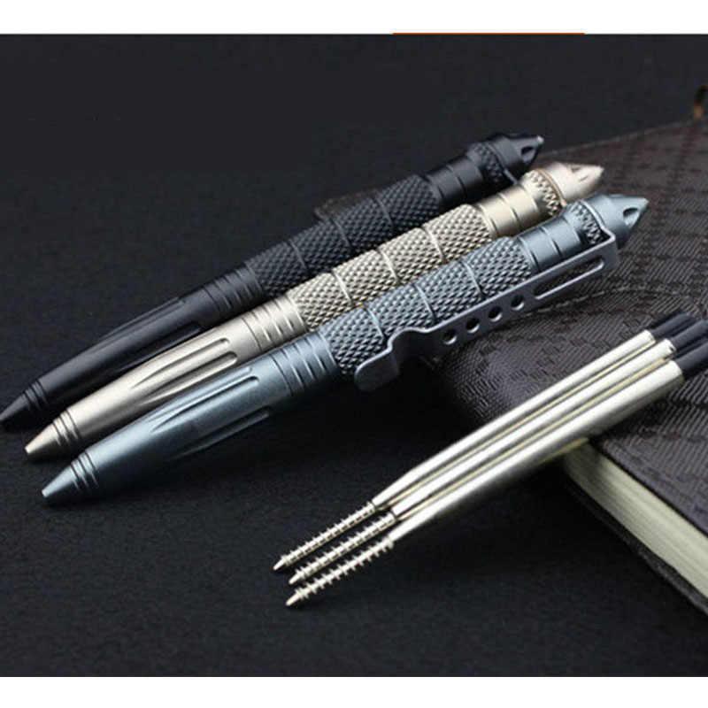 Высококачественная Защитная персональная тактическая ручка для самообороны Ручка инструмент многоцелевой авиационный алюминиевый Противоскользящий портативный
