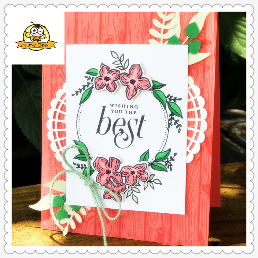 2019 New Flower Word Dies Metal Cutting Dies and Clear Stamps sets for Scrapbooking DIY Card Making Cutting Crafts Stencil Dies in Cutting Dies from Home Garden