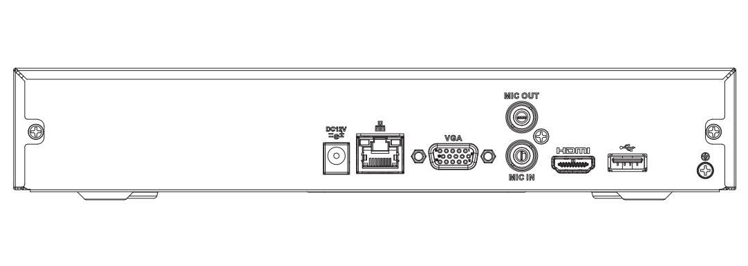 Dahua Nvr NVR2104HS 4KS2 NVR2108HS 4KS2 4/8 Canali Compatto 1U Lite 4K H.265 Registratore Video di Rete - 2
