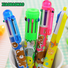 1pcs 10 in1 Colors Cute Flexible Ball Pen Writing Colorful Ballpoint Pens School Office Gifts