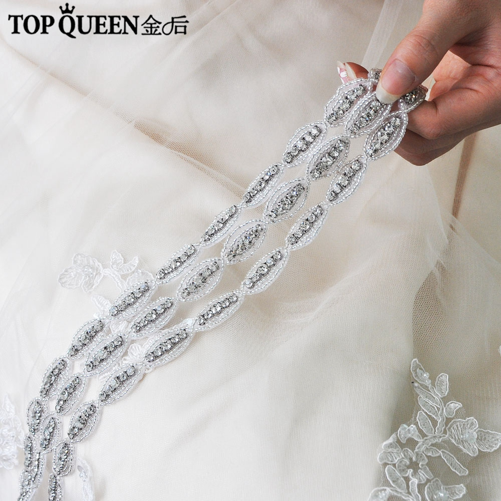 TOPQUEEN H288 Three In One Classical Bridal Wedding Headband Beaded Crystal Branch Hairband Bride High Quality Hair Accessories