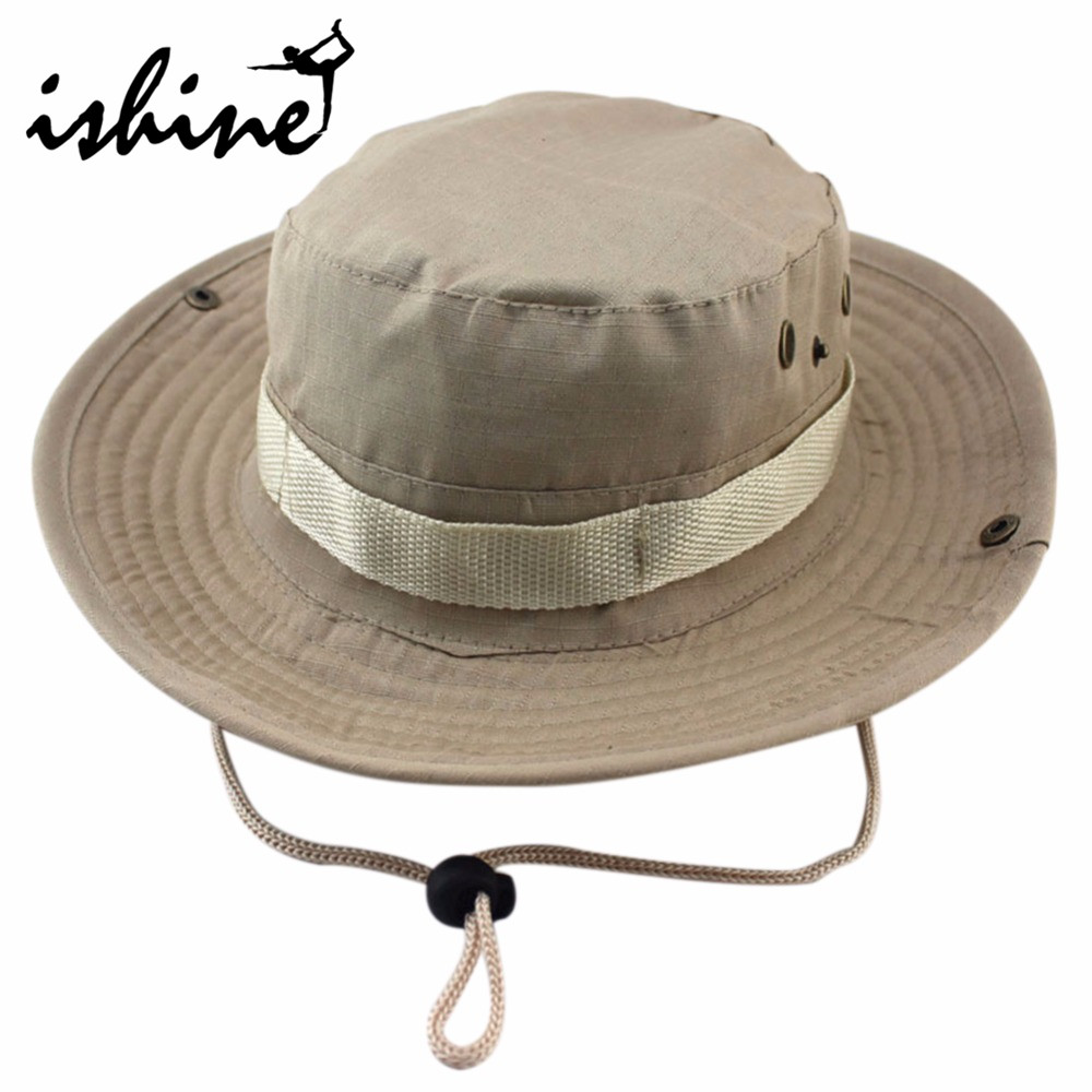 Fishing hat jungle military camouflage bucket unisex uv for Fishing sun hat