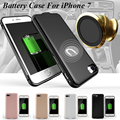 3000mAh-4000mAh External Portable Backup Battery Power Bank Charger Case For iPhone 7 Plus Multifunction Magnetic Car Holder