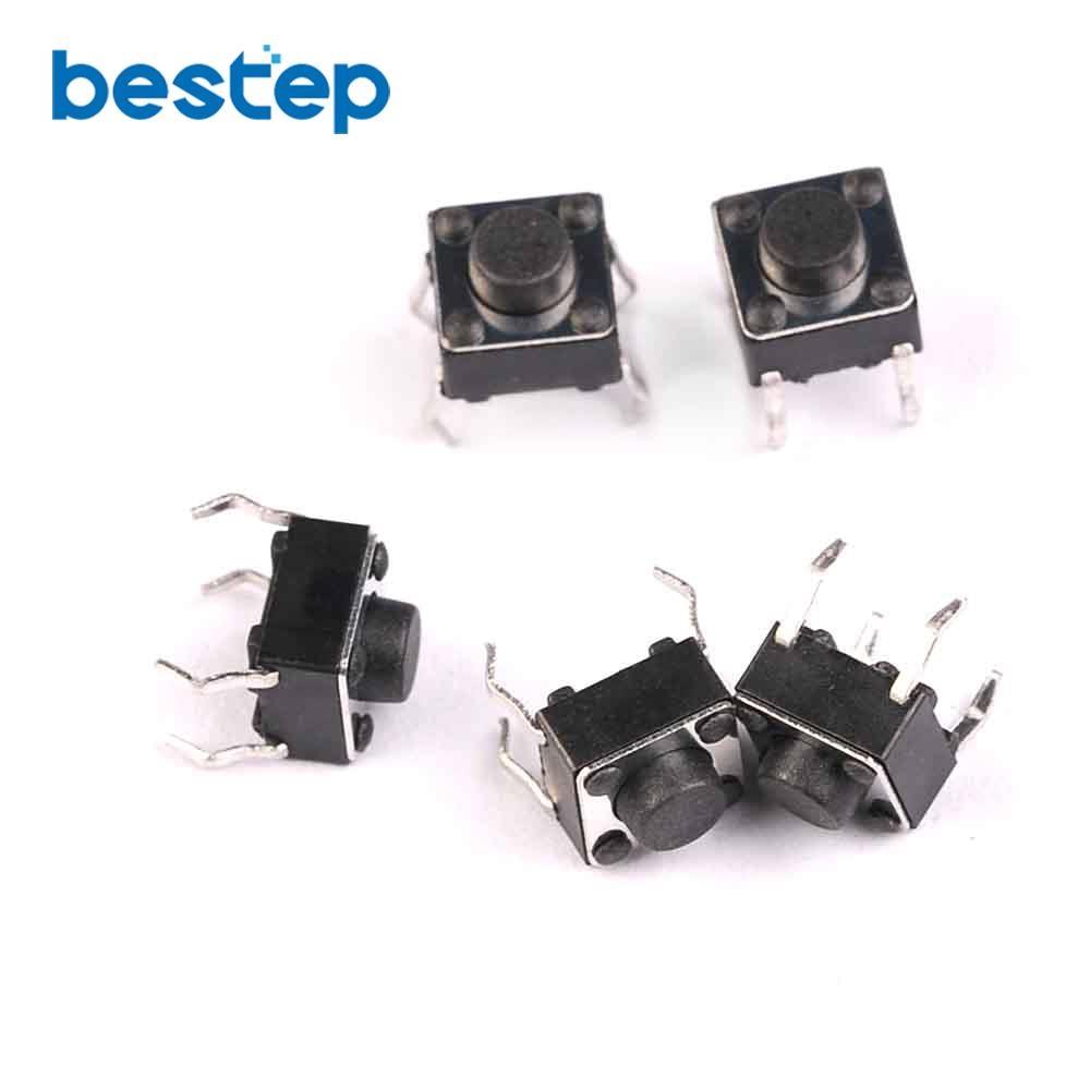100PCS Tactile Tact Mini Push Button Switch Micro Switch 6*6*5mm Momentary