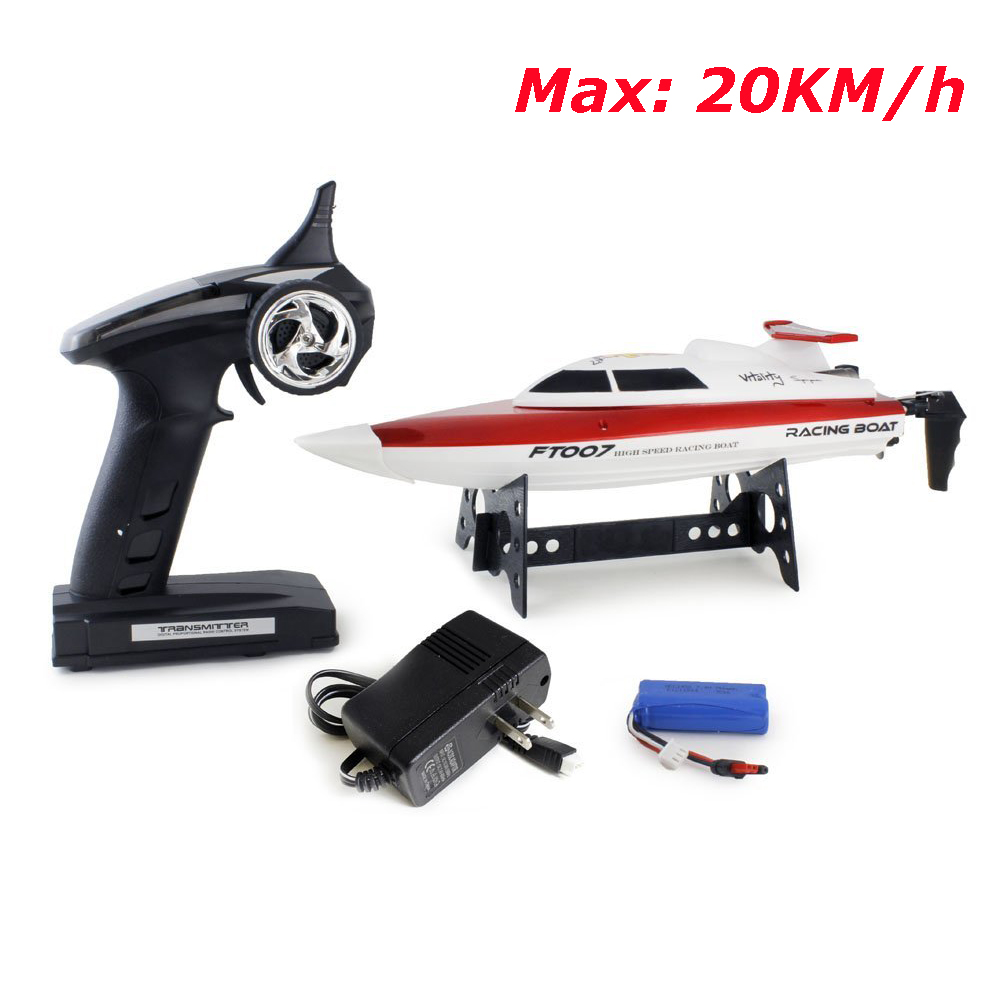 FeiLun FT007 4Channel 2.4GHz Remote Controller Brushed Motor Speedboat RC Racing Boat High Speed 20KM/H RTR цена 2017