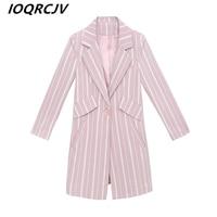 New Fashion Striped Small Blazer Jacket Women Long Sleeve Slim OL Blazer 2019 Spring Autumn Casual Blazer Female Feminine Suit