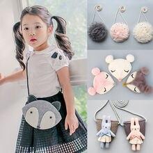 Мини-сумки через плечо с принтом животных для маленьких девочек модная Милая блестящая сумка-мессенджер детское портмоне с карманом для денег