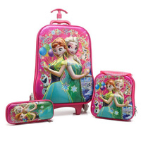 RTYCDG New Brand Stereo Hot Trolley Case Luggage Kids Travel Suitcase Boy Girl Cartoon Bag Pencil Box The Avengers Children Gift