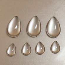 1pack 10x14mm 18x25mm 19x31mm Drop Glass Cabochon Cameo Transparent Clear Flat Back Crystal For Diy Jewelry Making