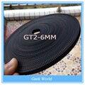 Venda quente 50 metros GT2-6mm correia dentada aberto largura 6mm cinto GT2 cinto hermet