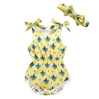 BOBORA 2017 0~18 M New Style Cotton Pineapple Print Hairball Sling Climbing clothes And Hoodies G9