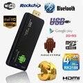 Mini Palillo de la TV TV Dongle DLAN StickAndroid 4.4 UNID Quad núcleo Rockchip RK3188T 2G/8G Wifi TV Media Player MK809III Bluetooth XBMC