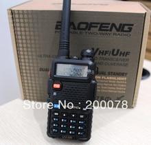 VHF/UHF two manner radios baofeng pofung uv-5r twin band walkie talkie radio FM transceiver PTT SOS flashlight + equipment