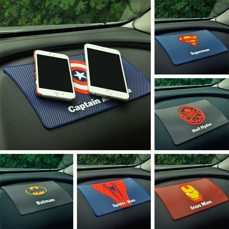 For car mat magic anti non-slip mat support mobile Captain American superhero man Dashboard under the car phone holder pad LargeFor car mat magic anti non-slip mat support mobile Captain American superhero man Dashboard under the car phone holder pad Large