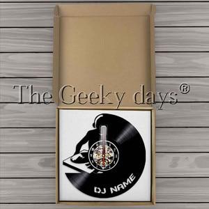 Image 5 - 1Piece DJ Personalized Custom Name Vinyl Record Wall Clock Modern Lamp Wall Watch LED Night Light Rock N Roll For DJ Gift