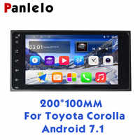 Panlelo S11 For Toyota 2 Din Android Car Stereo 7 1080P Autoradio Quad Core 2din Android Head Unit GPS Navigation 200*100 Radio