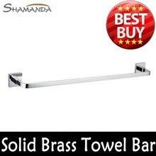 Бесплатная доставка ванная продукты твердой латуни хром ( 60 см ) одноместный полотенце бар, полотенце держатель, вешалка для полотенец, ванная комната accessories-99008