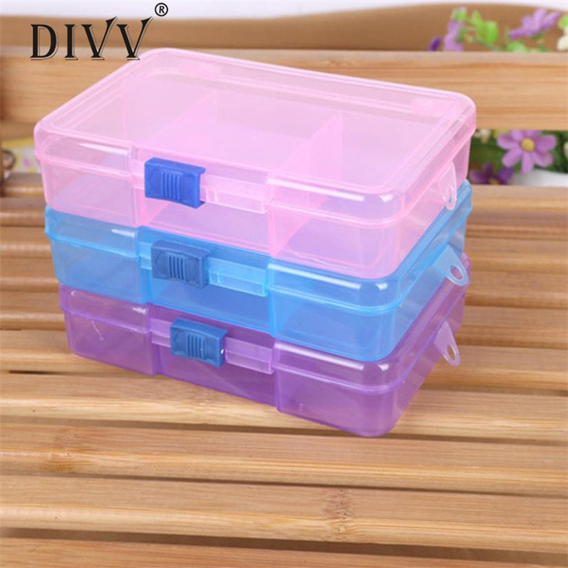 Storage Case Box Holder Container Pills Jewelry Nail Art Tips 5 Grids !1