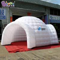 outdoor event tent/trade show tent 5.7x5.5x3.5 M inflatable dome igloo tent with 2 doors for advertising events toy tent