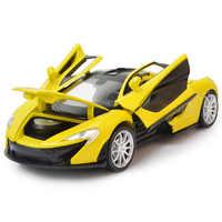 Voiture de course 1:32 Rafah voiture de sport en alliage de métal moulé sous pression voiture modèle Miniature échelle modèle son et lumière voiture électrique jouet pour enfants