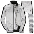 autumn winter men's sportswear hoodies sweatshirts and pants male tracksuits  suit set M-4XL AYG107