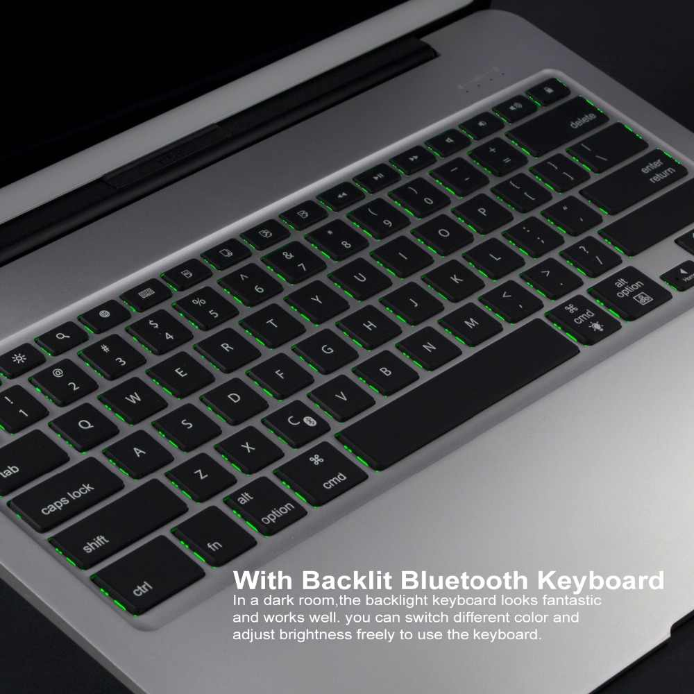 43268f49948 ... Witsp@d For APPLE IPAD PRO 12.9 keyboard case,Backlit Aluminum Slim  Bluetooth Wireless ...
