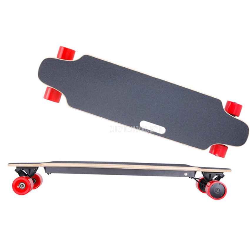 4 Four Wheel Boost Electric Skateboard With Remote Control Adult Scooter Kit Wood Longboard Skate Board Hoverboard Double Motor цена