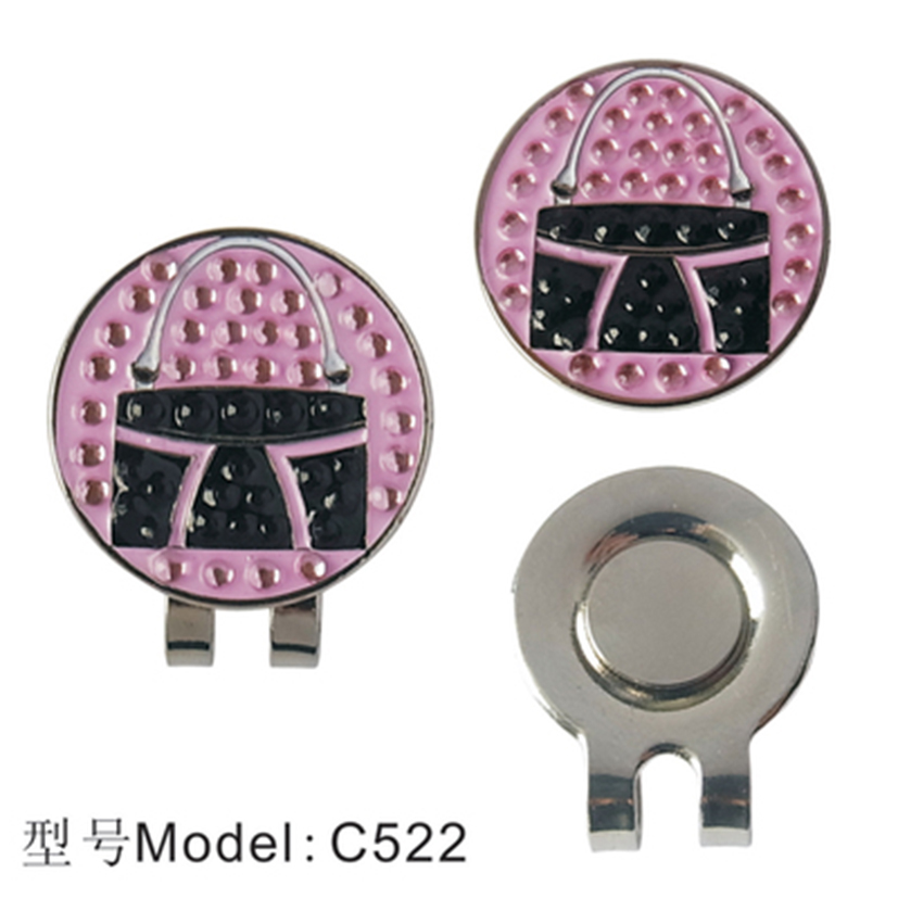 Golf Hat Cap Clip marker Rhinestone Multi Style Hat Clip Ball Magnetic Hat Clips High Quality Outdoor golf accessories ...