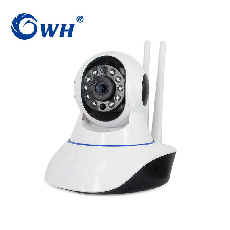 CWH 1080P Wireless IP Camera Wi-Fi two Antenna video and Audio TF Card Record Home Security HD Smart WiFi Camera Baby Monitor 2 4g 3dbi wi fi antenna black