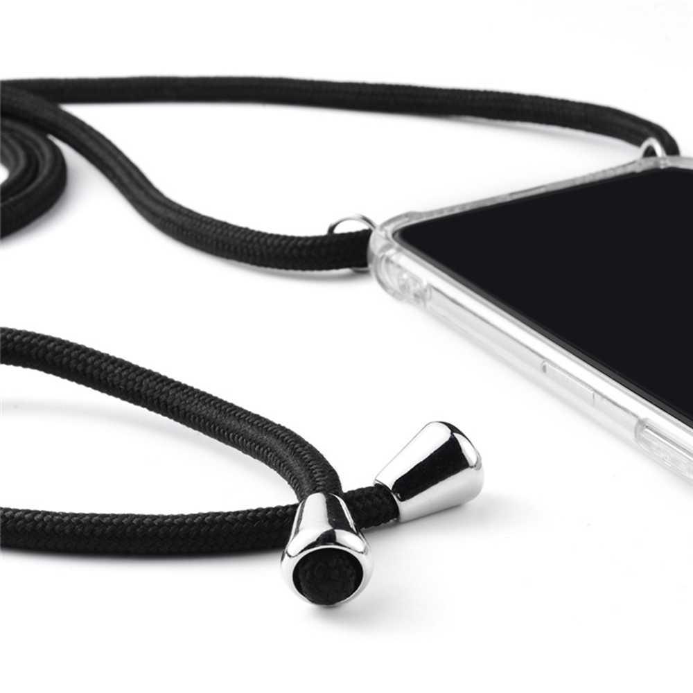 Colhedor Caso Strap Para iPhone 7 8 Plus XR Corda No Pescoço XS Max Para o iphone X 6 6 Adjustabl s além de Cordão Crossbody Transparente Soft Case