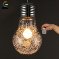 Personalized Big Bulb Modern Pendant Lights For Living Room Dining Room Glass Pendant Light Nordic Suspension Luminaire Home