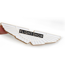 New Gold Flight Show Wings Metal Car Styling Emblem Badge 3D Sticker Auto Cool Exterior Trunk Logo for Refitting Aston Martin
