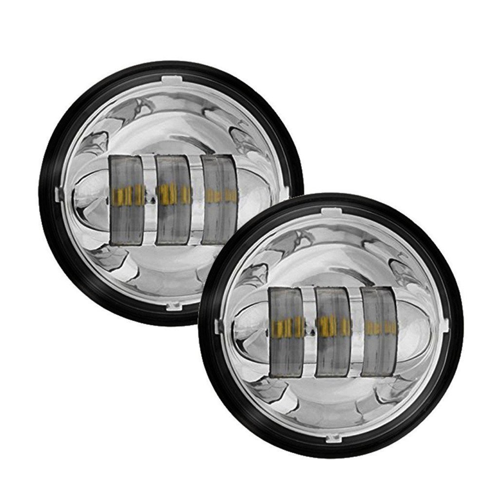 medium resolution of eagle lights chrome 7 harley led headlight with led fog lights and adapter ring motorcycle parts